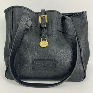 Dooney and Bourke Black Leather Shoulder Bag Purse